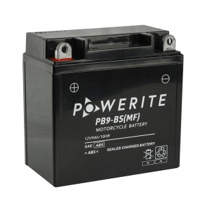 Battery Powerite PB9BS-12V MF - Factory Activated Sealed (Case 8)