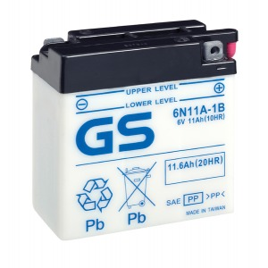 Battery GS 6N11A-1B-6V - Dry Cell, No Acid Pack (Case 10)