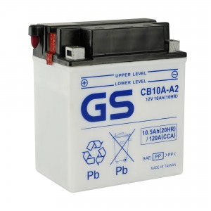 Battery GS CB10AA2-12V - Dry Cell, No Acid Pack (Case 5)