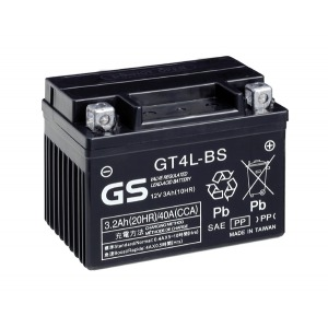 Battery GS GTX4LBS-12V MF VRLA - Dry Cell, Includes Acid Pack
