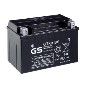 Battery GS GTX9BS-12V MF VRLA - Dry Cell, Includes Acid Pack