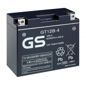 Battery GS GT12B4 12V MF VRLA - Factory Activated Sealed (Case 5)