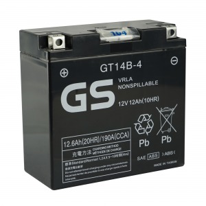Battery GS GT14B-4 12V MF VRLA - Factory Activated Sealed