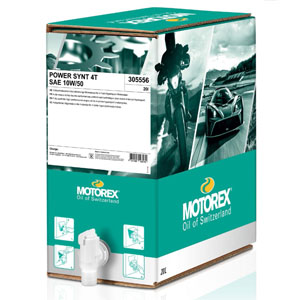 MOTOREX POWER SYNT 4T 10/50 BOXED 20 LT MA2