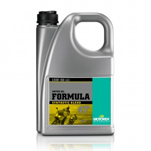 Motorex Formula 4T JASO MA2 (4) 15W/50 4L - Synthetic Blend