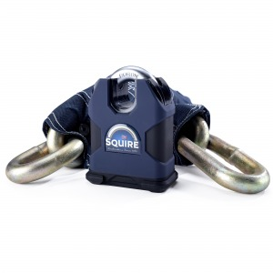 Squire Colossus Sold Secure Gold 80 Boron 16mm Closed Shackle Lock with 19 mm x 1.2m Chain