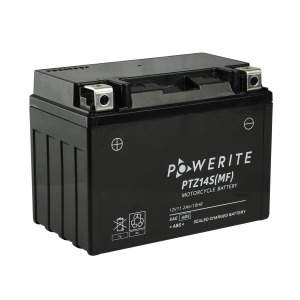 Battery Powerite PTZ14S-12V MF - Factory Activated Sealed (Case 8)