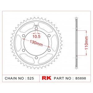 2111-45 Powerite Rear Sprocket JT 1876 AFAM 12815