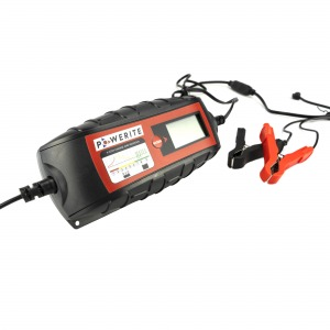 Powerite 5A 6V/12V Smart Battery Charger and maintainer with clamps