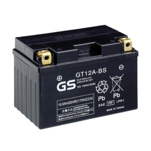 Battery GS GT12ABS-12V MF VRLA - Dry Cell, Includes Acid Pack