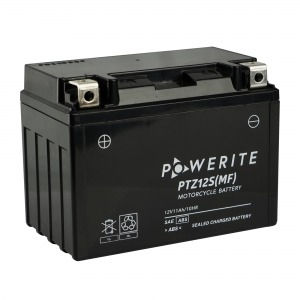 Battery Powerite PTZ12S-12V MF - Factory Activated Sealed (Case 8)
