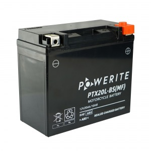 Battery Powerite PTX20LBS-12V MF - Factory Activated Sealed (Case 4)
