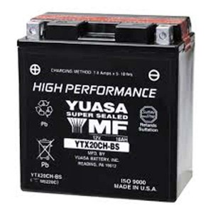 Battery Yuasa YTX20CHBS-12V High Performance MF VRLA - Dry Cell, Includes Acid Pack