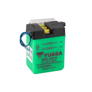 Battery Yuasa 6N2-2A-8-6V - Dry Cell, No Acid Pack (Case 10)
