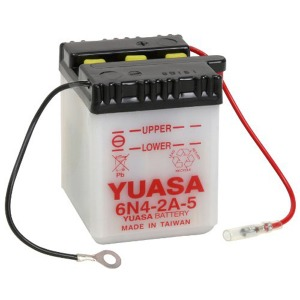 Battery Yuasa 6N42A5-6V - Dry Cell, No Acid Pack (Case 20)