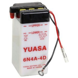 Battery Yuasa 6N4A-4D-6V - Dry Cell, No Acid Pack (Case 10)