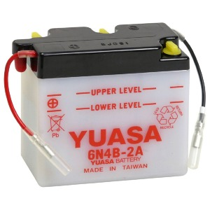 Battery Yuasa 6N4B2A-6V - Dry Cell, No Acid Pack (Case 10)