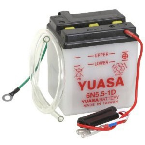 Battery Yuasa 6N5.5-1D-6V - Dry Cell, No Acid Pack (Case 10)