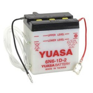 Battery Yuasa 6N6-1D-2-6V - Dry Cell, No Acid Pack (Case 10)