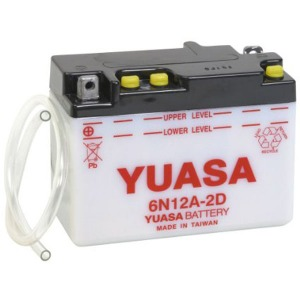 Battery Yuasa 6N12A-2D-6V - Dry Cell, No Acid Pack (Case 5)