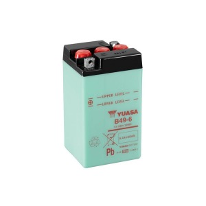 Battery Yuasa B49-6-6V - Dry Cell, Includes Acid Pack