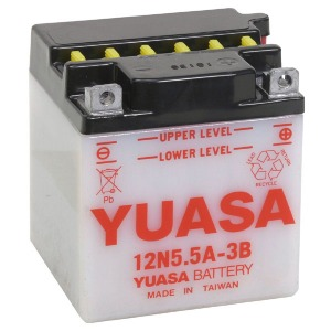 Battery Yuasa 12N5.5A3B-12V - Dry Cell, Includes Acid Pack (Case 6)