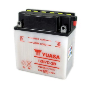 Battery Yuasa 12N7D-3B-12V - Dry Cell, No Acid Pack (Case 5)