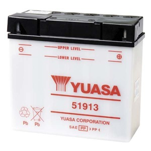 Battery Yuasa 51913-12V YuasaMicron DIN - Dry Cell, Includes Acid Pack (Case 2)