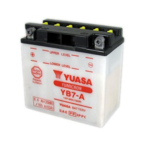 Battery Yuasa YB7-A-12V YuMicron - Dry Cell, Includes Acid Pack (Case 5)