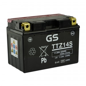 Battery GS TTZ14S-12V MF VRLA - Dry Cell, Includes Acid Pack