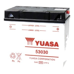 Battery Yuasa 53030-12V YuasaMicron DIN - Dry Cell, Includes Acid Pack (Case 2)