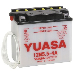 Battery Yuasa 12N5.5-4A-12V - Dry Cell, No Acid Pack (Case 10)