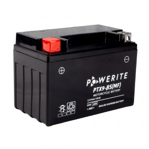 Battery Powerite PTX9BS-12V MF - Factory Activated Sealed (Case 8)