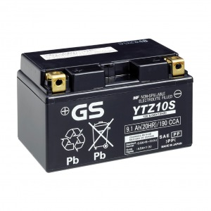 Battery GS YTZ10S-12V High Performance MF VRLA - Factory Activated Sealed (Case 5)