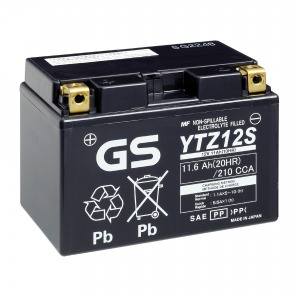 Battery GS YTZ12S-12V High Performance MF VRLA - Factory Activated Sealed (Case 5)