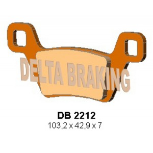 DELTA ORD(QDD) OFF ROAD PADS DB2212 (FA600/2)
