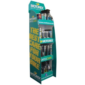 Motorex care product stand package
