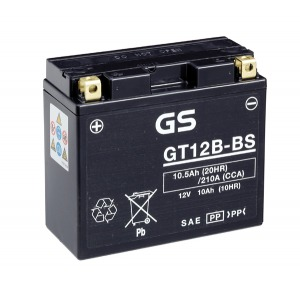 Battery GS GT12B-BS-12V MF VRLA - Dry Cell, Includes Acid Pack (Case 4)