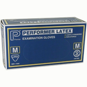 Latex Gloves Med 100 per box 2.25