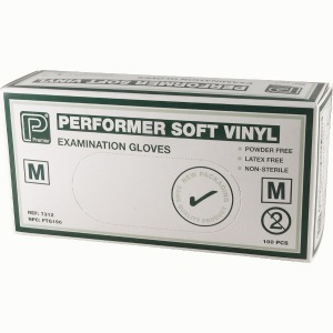 Soft Vinyl Gloves Med 100 per box 1.60
