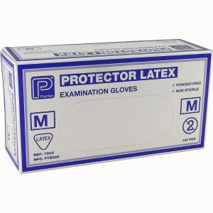 Powder Free Latex Gloves X Lar 100 per box