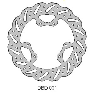 Delta MX front brake disc for Honda CR and CRF plus Vertemati