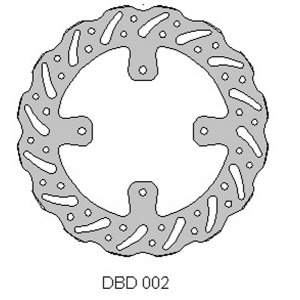 Delta MX front disc for Honda CR80/85 and CRF150 models