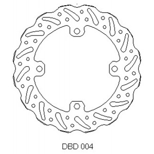Delta rear MX brake disc for Honda CR125 and CR250 98 - 01