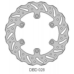 Delta MX 245mm rear disc for Yam YZ and WR 125-450 models