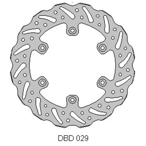 Delta MX rear disc for Yam YZ/WR 125-450 early models