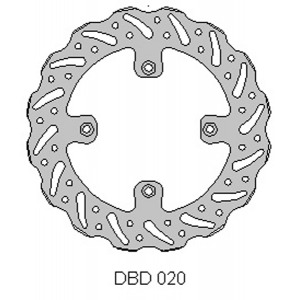 DELTA MX BRAKE DISC REAR DBD020 RM85 2005-17