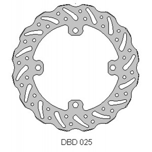DELTA MX BRAKE DISC REAR DBD025 250/450rmz 2007-17