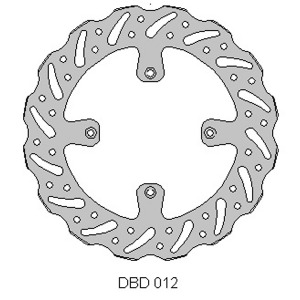 Delta MX front brake disc for Kaw KX125/250 89-02