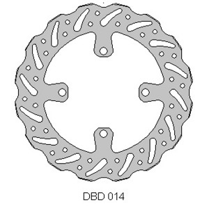Delta front MX brake disc for Kaw KX125/250 03-05 Suz RMZ250 04-06
